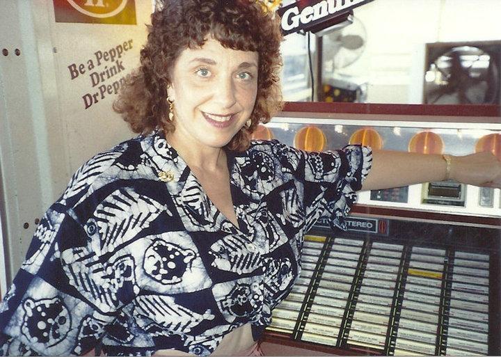 Judy beside her songs on Jukebox