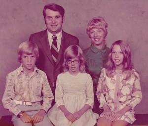 Judy. Dick Atwell & kids, mid 70's